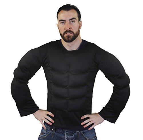 ILOVEFANCYDRESS Brust Muskel KOSTÜM in Schwarz und 2 Verschiedenen GRÖßEN Super FÜR Jede Superhelden Verkleidung Oder Wrestler KOSTÜM KOSTÜM= in der Farbe Schwarz & GRÖßE XLarge