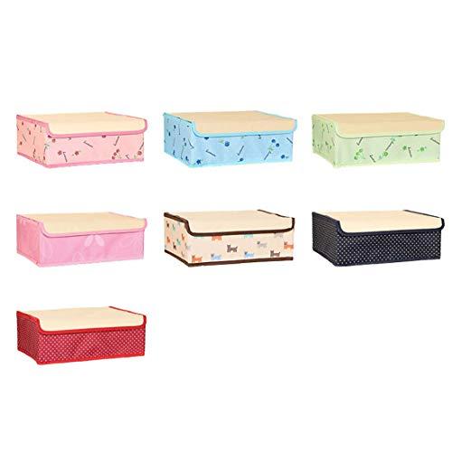 Cvthfyky 2 Pack (Socken Box + Bra-Box) Faltbare Aufbewahrungsbox mit Deckel Oxford Fabric Schrank Schublade abnehmbare Teiler (Farbe : Blau, Size : 2 Pack) (Baby-schrank-teiler-blau)