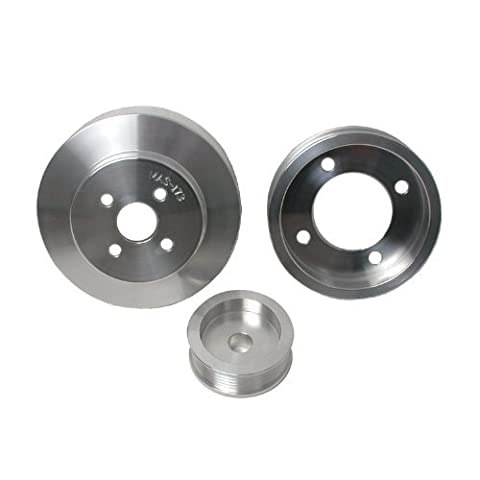 BBK 1554 Underdrive Pulley Kit for Ford Mustang 5.0L - 3 Piece Lightweight CNC Machined Aluminum Kit by BBK Performance