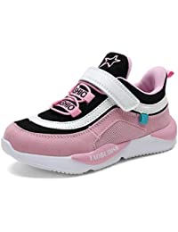 Scarpe da Ginnastica per Bambini Moda Scarpe Sportive da Corsa a Strisce con  Velcro Scarpe da Bambina Leggere… b1aceb0ec88