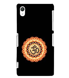 EPICCASE Om symbol Mobile Back Case Cover For Sony Xperia Z2 (Designer Case)