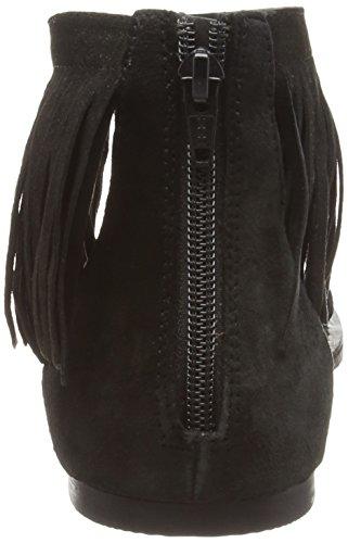Vero Moda Vmkate Leather Sandal, Tongs femme Noir - Noir