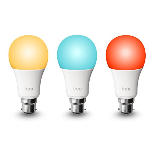 Innr Smart Bulb Colour B22, Works with Philips Hue* / Alexa/Google Assistant (Hub Required), by 185C (3-Pack)