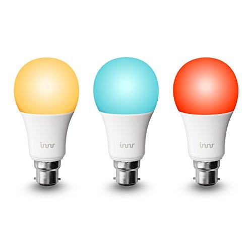 Innr B223unidades de Smart RGBW LED bombillas, color, intensidad regulable (Compatible con Hue *, Eco Plus & Alexa) por 185C-3