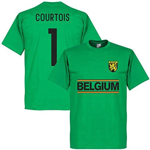 Retake - Camiseta del Equipo de Cortois de Bélgica, Color Verde Verde Verde 42
