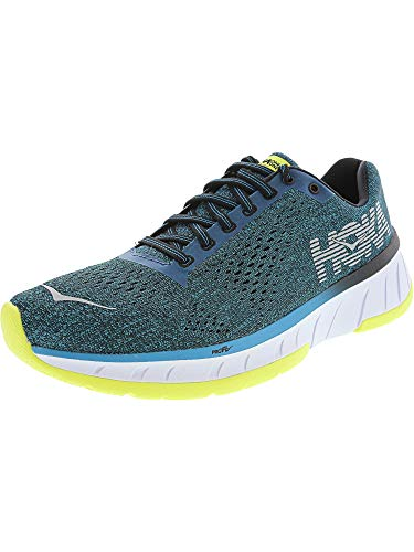 Hoka One Men's Cavu Caribbean Sea/Black Ankle-High Mesh Running Shoe - 7M