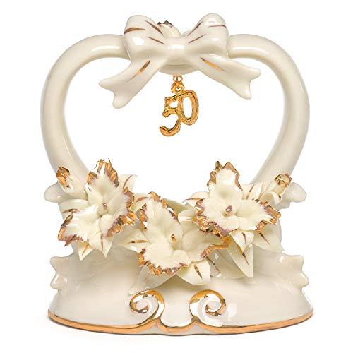 Hortense B. Hewitt Hochzeits-Zubehör zum 50. Hochzeitstag, Porzellan, 11,4 cm hoch