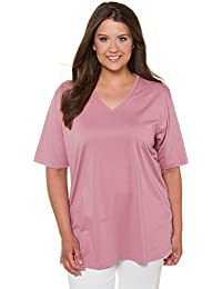 622270360d8dac Ulla Popken Damen Große Größen bis 68 | T-Shirt Basic | Sweatshirt mit V