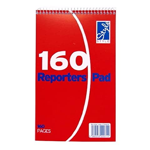 Reporters Flip Wirebound Notebook - 80 Sheets = 160 Pages - Ruled - size 210mm x 124mm