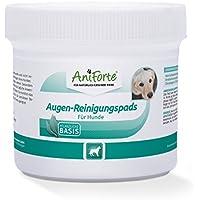 AniForte Augen-Reinigungspads 100 Stück für Hunde, Besonders schonende Reinigungstücher für die Augen-Pflege, Milde Augen-Reinigung ohne zu Reizen, Entfernt sanft Tränenstein und Speichel-Reste