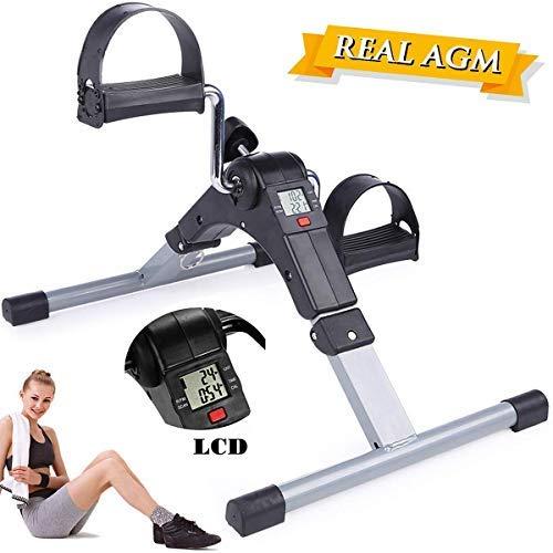 AGM Mini Bike, Arm- und Beintrainer Heimtrainer,Hometrainer, Fitnesstrainer, Sportgerät,Minifahrrad Bewegungstrainer Fitnessgerät für Zuhause Büro
