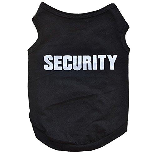 (Amphia - Pet Sommerweste aus Baumwolle, schwarz,niedlichen Hund pet Weste welpen gedruckt Baumwolle t-Shirt)