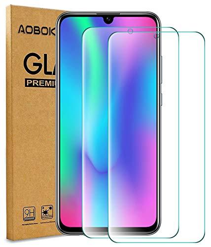 AOBOK [2 Stück, Panzerglas Folie für Huawei P Smart Plus 2019, Bildschirmschutzfolie für Huawei P Smart Plus 2019, (Anti-Kratzen, Blasenfrei, HD Klar) 9H Härte Schutzfolie