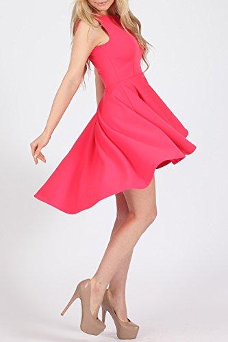 Momo Fashions Damen Mädchen Frankie Klein-niedrig High-Low Skaterkleid UK Größe EUR 36-42 Cerise