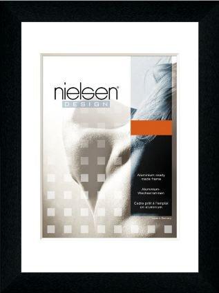 Nielsen Bilderrahmen Alurahmen Profil 215 50x70 cm Eloxal Schwarz matt - ClearColour UV92