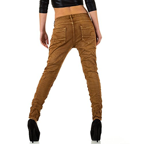 iTaL-dESiGn - Jeans - Boyfriend - Femme Marron Clair