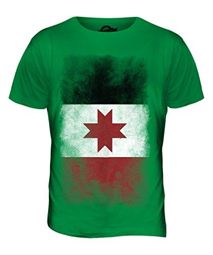 CandyMix Udmurtien Verblichen Flagge Herren T Shirt Grün