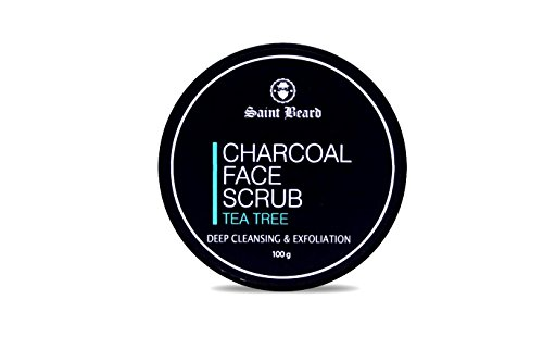 Saint Beard Charcoal Face Scrub For Deep Cleasing & Exfoliation 100 Gm
