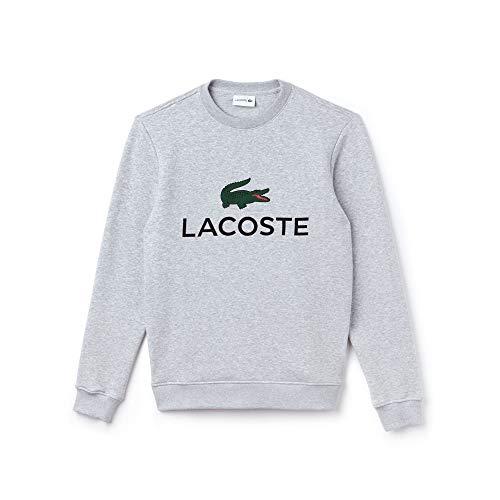 Lacoste Herren Sweatshirt Sh0605, Grau (Silver Chiné Cca), Small (Herstellergröße: 3)