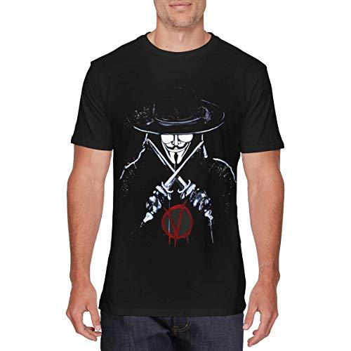 Mens Classic V for Vendetta T-Shirts Black,Black,Large (Vendetta Funny Für V)
