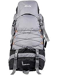 23857d58f3 Bendly Polyester 60 Ltr Grey Trekking Backpack
