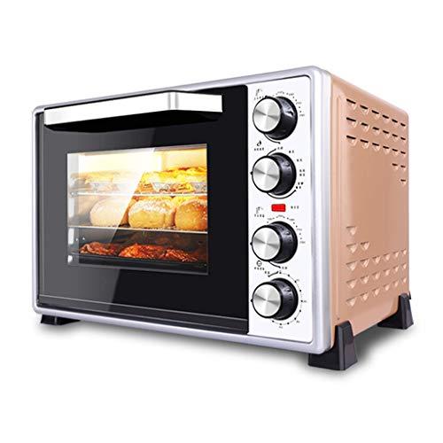 JCOCO Mini four électrique 40L avec contrôle de la température de précision 100-250°C et 0-60min Distribution de l'air chaud multi-fonctions 1500W avec four d'éclairage