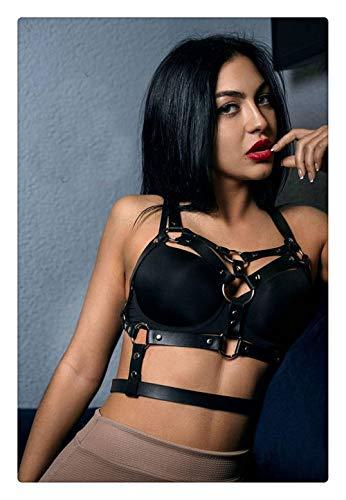 521 Damen Sexy Punk Leder Harness Gothic Taille Body Verstellbare beste Strapshalter