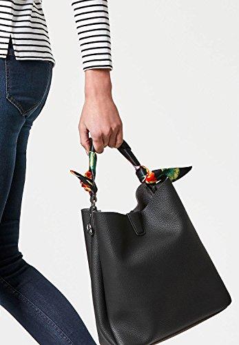 HALLHUBER Handtasche mit Satinhenkel Schwarz