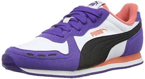 Puma Cabana Racer Sl, Baskets Basses Mixte Enfant Blanc - Weiß (puma white-puma Black-Prism Violet 45)