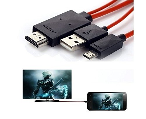 Rewy Micro USB to Hdmi 1080p Hdtv Adapter Cable, TV AV Cable...