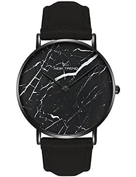 Damenuhr Armbanduhr Trenduhr Marmor Marble Farben Schwarz verschiedene Armbandfarben Beige Braun Lachsrose Nude...