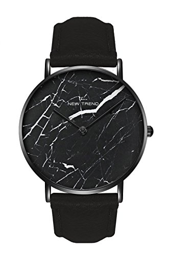 New Trend Unisex Armbanduhr Damen-Uhr Herren-Uhr Analog Quarzwerk Mesh-Armband Leder-Armband Chronograph Dornschließe Marmor