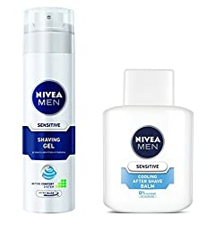 Nivea for Men Sensitive Shaving Gel - 200 ml + NIVEA MEN Sensitive Cooling After Shave Balm 100ml