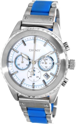 DKNY Men's 42mm Two Tone Steel Bracelet & Case Quartz White Dial Chronograph Watch NY8762