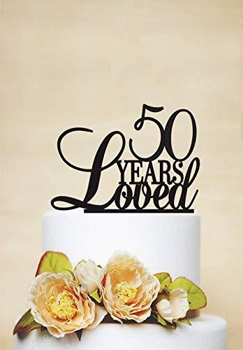 Hochzeits-Dekoration Tortenaufsatz 50. Geburtstag Jahrestag Personalisierte Dekoration Geburtstag Dekoration Fun Cake Topper Party Favor Geschenke für Frauen Herren