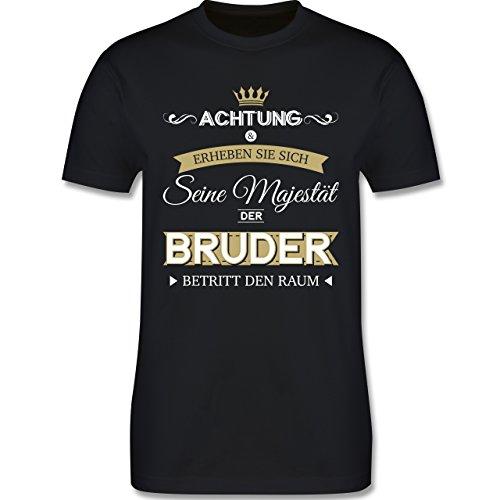 (Bruder & Onkel - Seine Majestät der Bruder - L - Schwarz - L190 - Herren T-Shirt Rundhals)