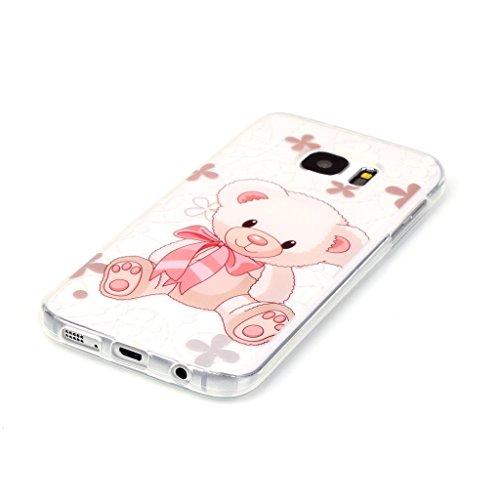 Uming® Colorful Motif d'impression Dessin Soft Cover Case TPU Cas ( Dandelion - pour IPhone 5S 5 5G SE IPhone5S IPhoneSE ) Colorful Pattern Print Coque de protection Coque de téléphone portable Case C Bear