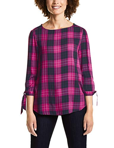 Street One 341061, Blusa para Mujer, Mehrfarbig (Dark Electric Pink 31486), 38