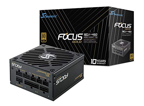 Seasonic focus sgx-450 alimentatore per computer 450 w sfx nero