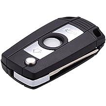 Caja de llave - TOOGOO(R) Caja de llave Llavero Cascara de llave sin llave de coche del tiron plegable para BMW 3 5 7 Series Z3 Z4 E38 E39 E46