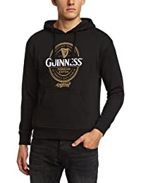 Guinness Official Merchandise Label Hoodie Men's Sweatshirt