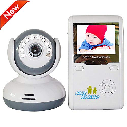 HLKYB Drahtlose Baby-Monitore,2.4G Wireless Digital Color LCD Baby Monitor Kit Two-Way Audio und Room Temperature Display Lullabies. Duplex-digital-lcd