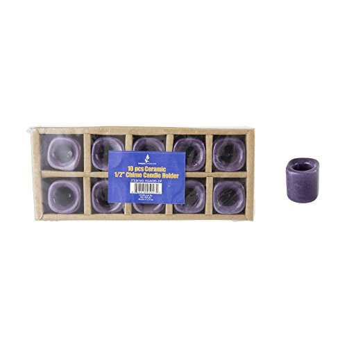 mik Chime Ritual Spell Kerzenhalter-Dunkles Violett, Set von 10 ()