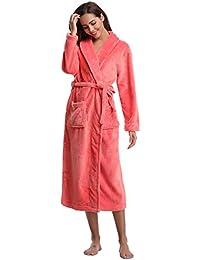 Aibrou Unisex Calientes Albornoz Invierno Batas Kimono Baño para Hombre y Mujer,Suave Comodo y…