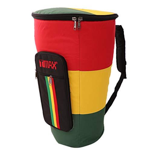 Tragbare Djembe Tasche Drum Rucksack Afrikanische Drum Tasche Case, Wasserdicht, Stoßfest, Reißfest - Bunt, 10 Zoll