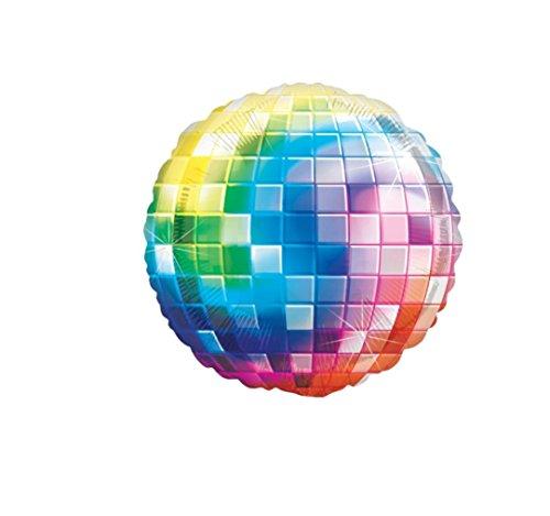 RepairMedia-Shop RM★ Discokugel Disco Party Folienballon Helium Gas Luftballon Party Dekoration Happy Birthday Geburtstag Disco Kugel P077 ★RM★