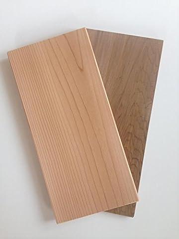 2 Stück GRILLFACTUM Western Red Cedar 29x14x1,1 cm Grillbrett Grillplanke Räucherbrett Zedernholz Plank Grilling Plankengrillen