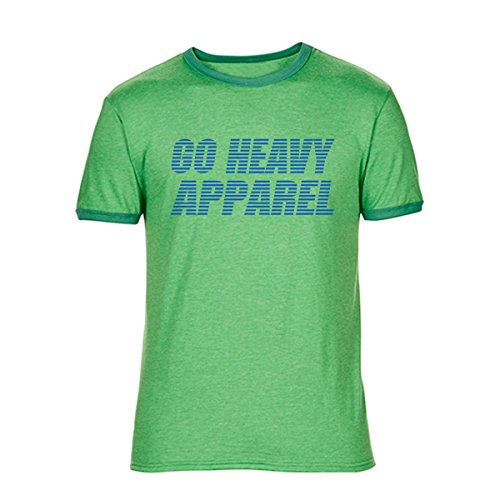 Go Heavy Camiseta para hombre - Stripes - heather green - XL