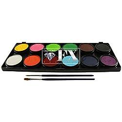 TAG Face Paint Palette Set ~ 12 x 10g Regular Colours