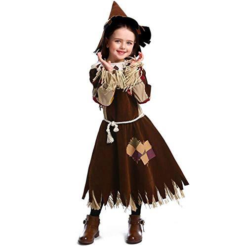 ASDF Vogelscheuchendrama Kostüm Halloween Hexenkostüm - Scarecrow Kind Kostüm